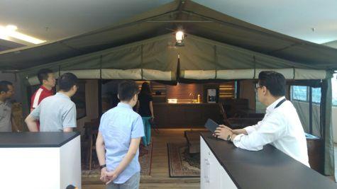 An actual safari tent from Africa!