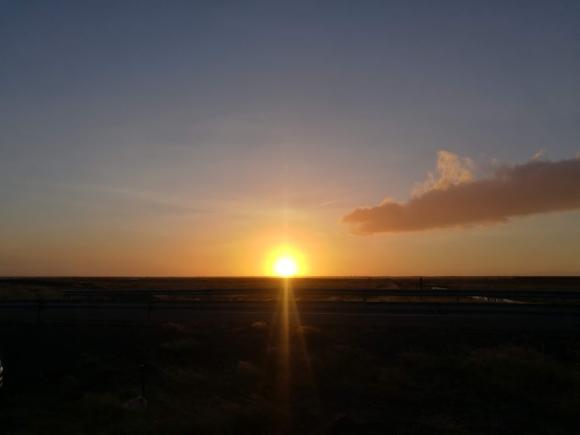 Sunset skyline holiday iceland
