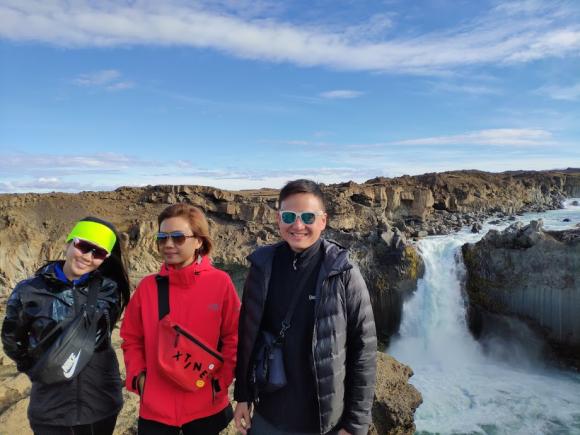 waterfall travel adventure hike